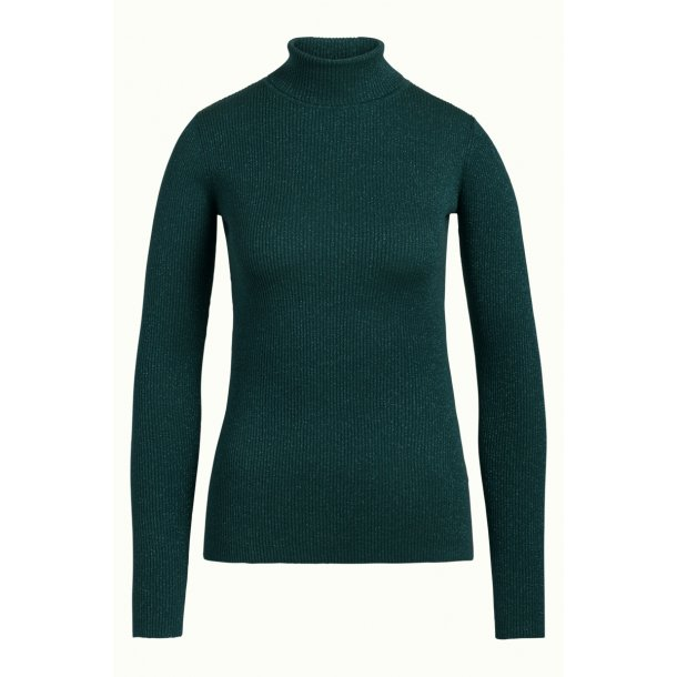 Bluse King Louie Rollneck Lapis Pine Green