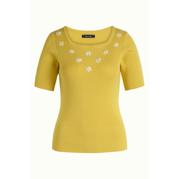Bluse King Louie Lexi Flower Power Sunny Yellow