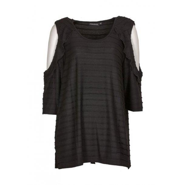 Bluse Handberg Fiona Black +Size