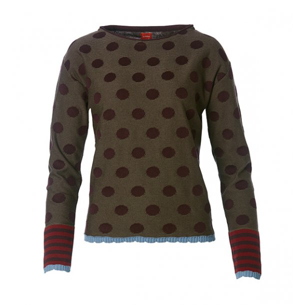 Strik du Milde Eva Dots Red