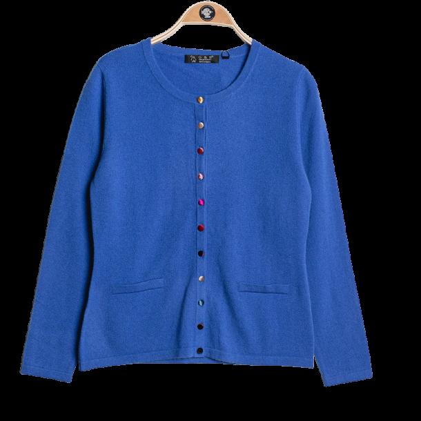 Cardigan 100% Cashmere Royal Blue