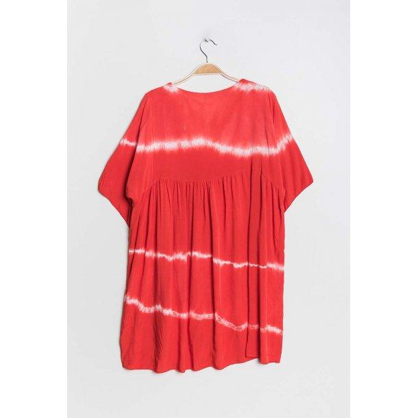 Kjole Chana Mod Tie-and-dye Red