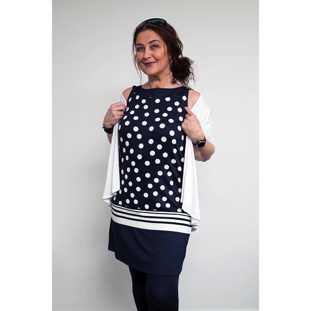 Kjole Handberg Emma Navy Dot +Size