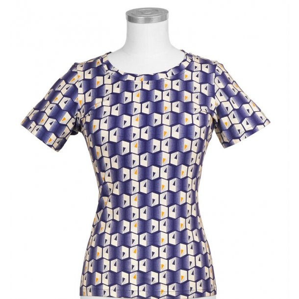T-shirt Margot Purple Hexagon